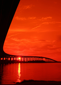 210 Bridge Sunset photo via SWLA CVB, Victor Monsour Photgrapher
