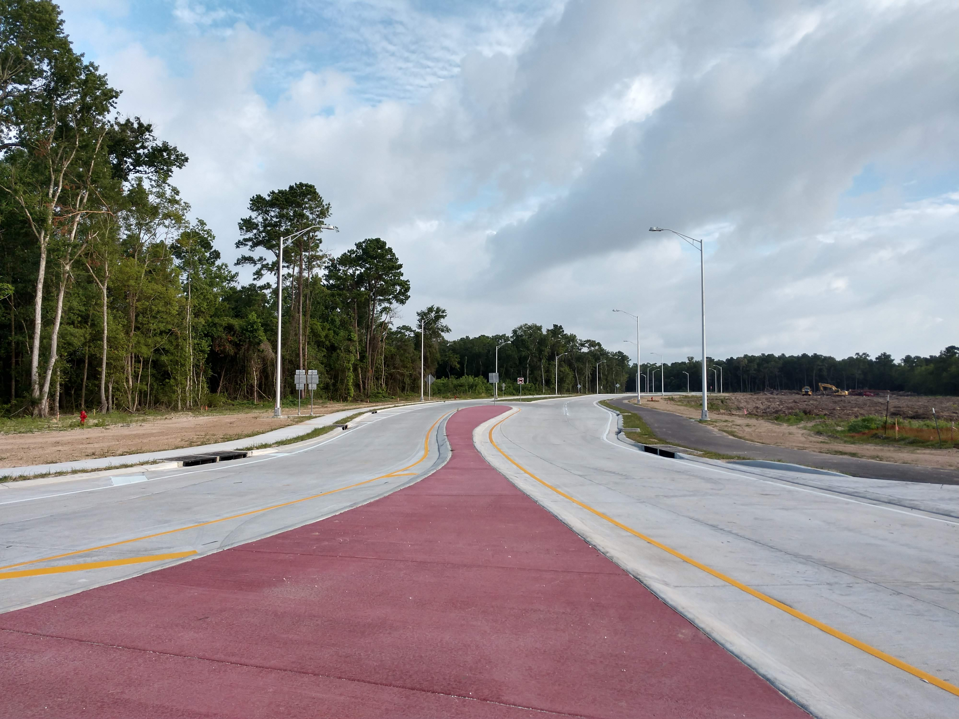 Stripping of Contraband Parkway complete